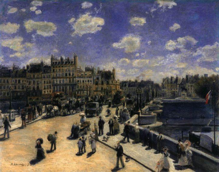 Новый Мост в Париже:: Ренуар Пьер Огюст - Pierre-Auguste Renoir фото