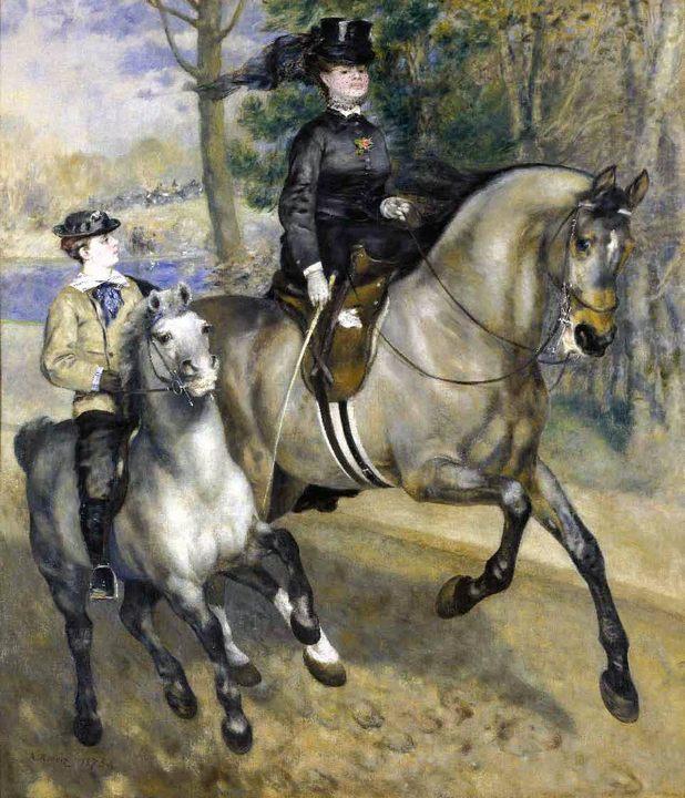 Конная прогулка в Булонском лесу :: Ренуар Пьер Огюст - Pierre-Auguste Renoir фото