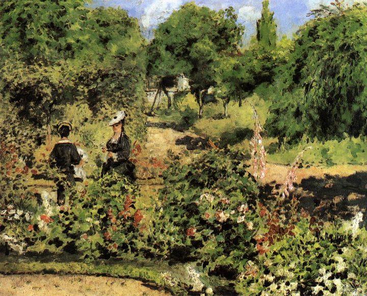 Сад в Фонтеней :: Ренуар Пьер Огюст - Pierre-Auguste Renoir фото