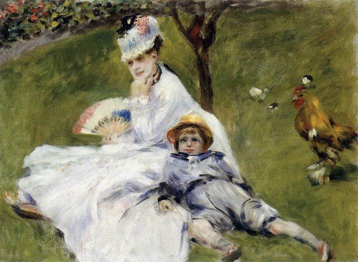 картина Мадам Моне в саду ::  - Pierre-Auguste Renoir фото