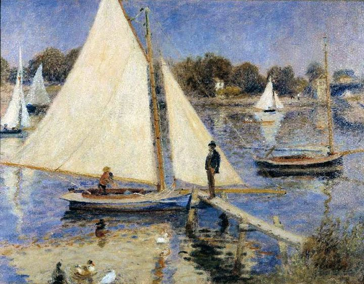 Сена в Аржентье :: Ренуар Пьер Огюст - Pierre-Auguste Renoir фото