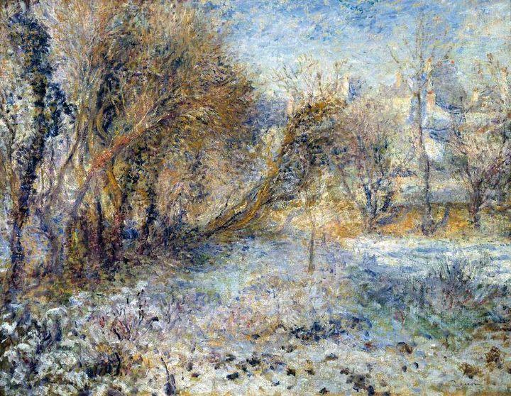Снежный пейзаж :: Ренуар Пьер Огюст - Пейзаж ( пейзажная живопись ) фото