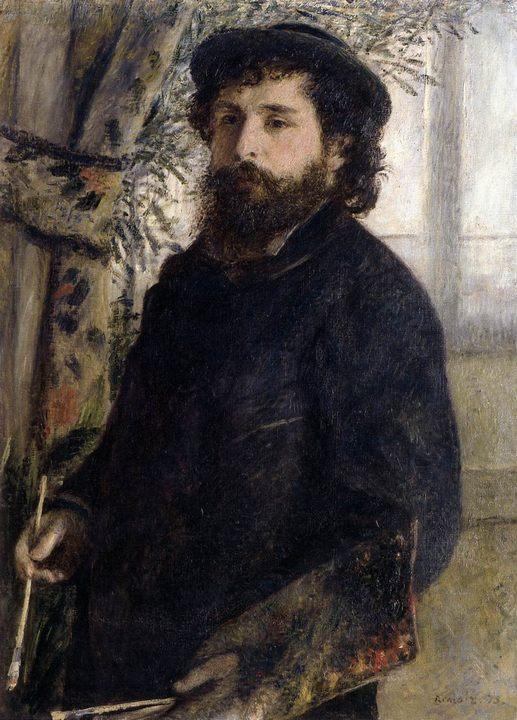 картина Клод Моне за работой :: Ренуар Пьер Огюст - Pierre-Auguste Renoir фото