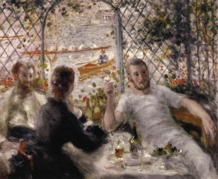 Ланч гребцов :: Ренуар Пьер Огюст - Pierre-Auguste Renoir фото