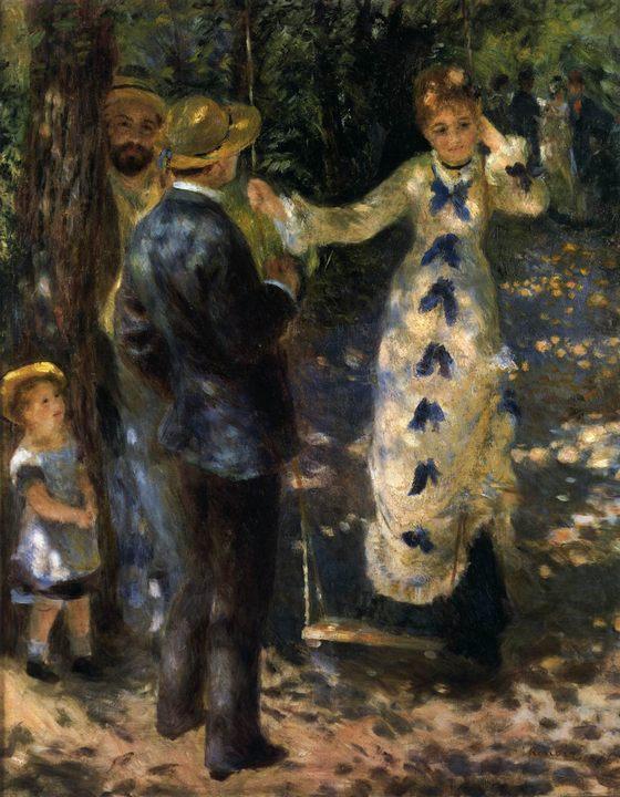 картина Качели :: Ренуар Пьер Огюст - Pierre-Auguste Renoir фото