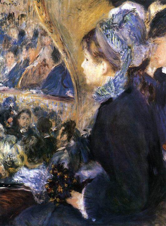 картина В театре :: Ренуар Пьер Огюст - Pierre-Auguste Renoir фото