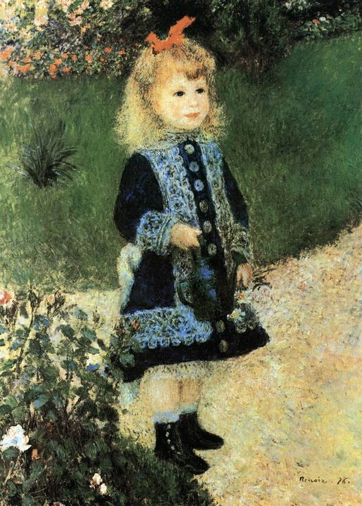 картина Девочка с лейкой :: Ренуар Пьер Огюст - Pierre-Auguste Renoir фото