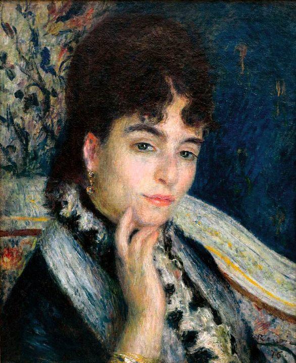 Портрет мадам Альфонс Даде :: Ренуар Пьер Огюст - Pierre-Auguste Renoir фото