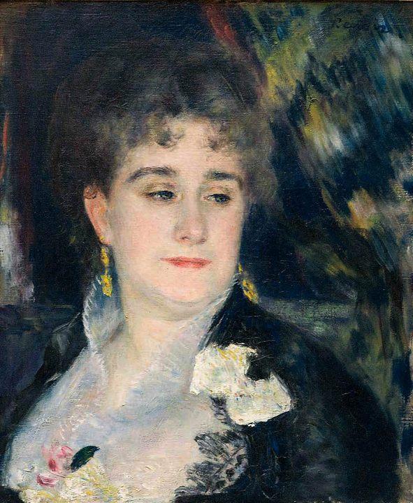 картина Портрет мадам Шарпантье :: Ренуар Пьер Огюст - Pierre-Auguste Renoir фото
