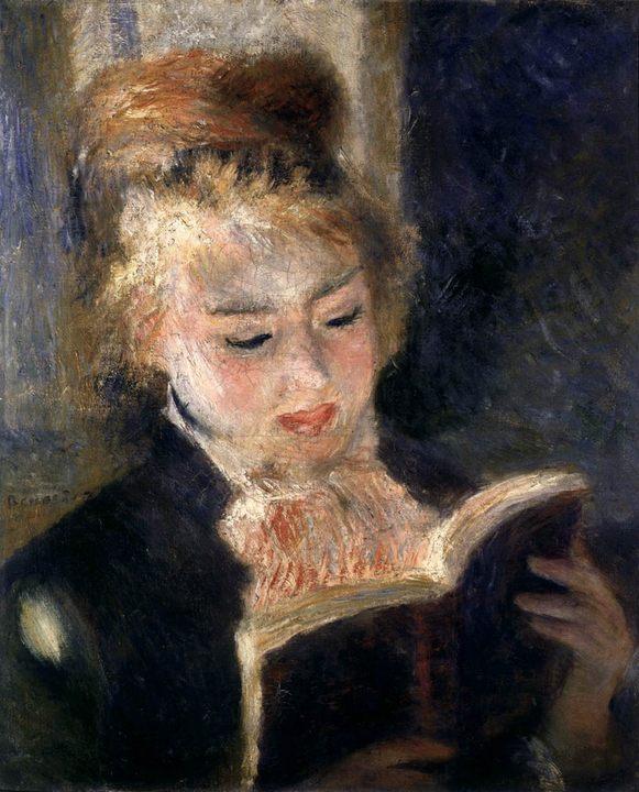 картина Читающая девушка :: Ренуар Пьер Огюст - Pierre-Auguste Renoir фото