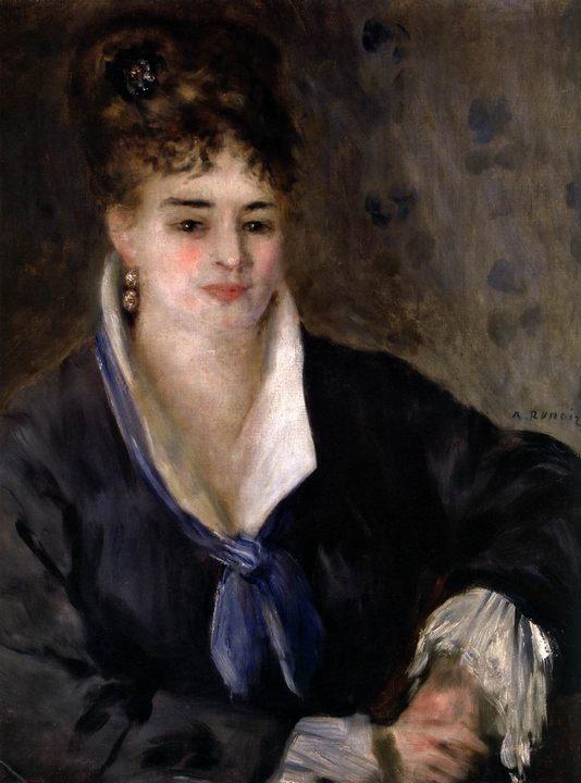 картина Девушка в черном :: Ренуар Пьер Огюст - Pierre-Auguste Renoir фото