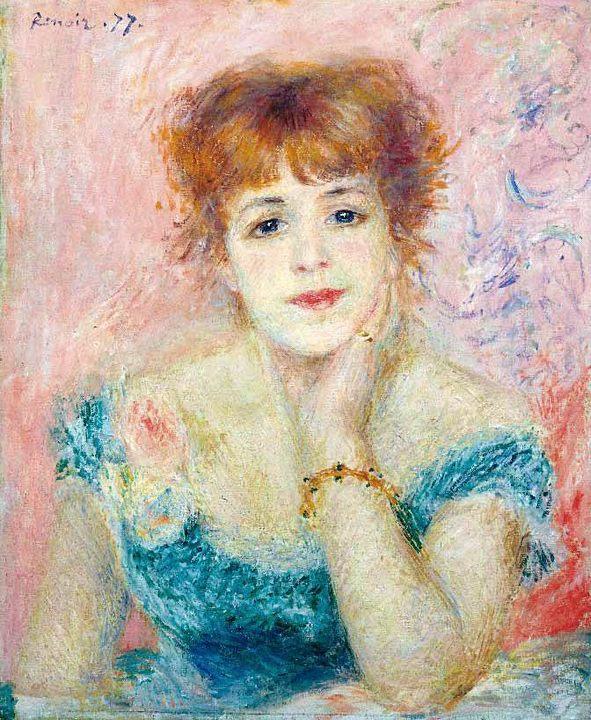 Портрет Жанны Самари :: Ренуар Пьер Огюст - Pierre-Auguste Renoir фото
