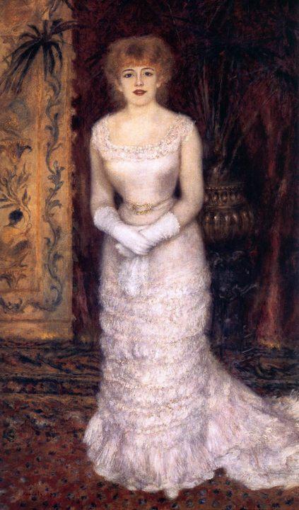 Портрет актрисы  Жанны Самари :: Ренуар Пьер Огюст - Pierre-Auguste Renoir фото