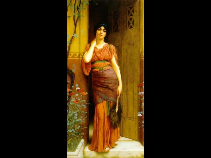 У двери в сад :: Джон Уильям Годвард - Древний Рим и Греция, Египет фото