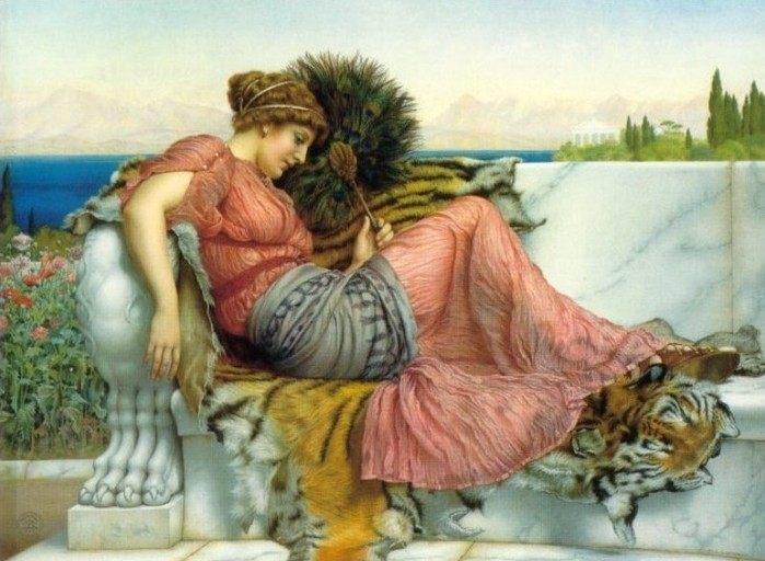 картина Амариллис :: Джон Уильям Годвард - Древний Рим и Греция, Египет фото
