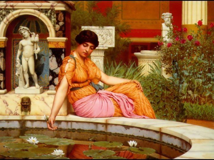 картина Бассейн с лилиями :: Джон Уильям Годвард - Древний Рим и Греция, Египет фото