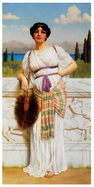 Греческая красавица :: Джон Уильям Годвард - Древний Рим и Греция, Египет фото