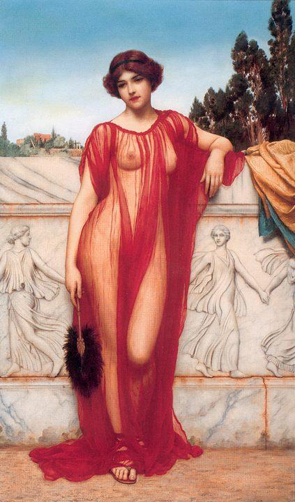 Афина :: Джон Уильям Годвард - Картины ню, эротика в шедеврах живописи фото