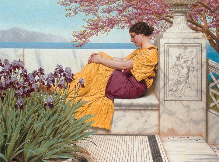 картина Под цветущими ветвями :: Джон Уильям Годвард - Древний Рим и Греция, Египет фото