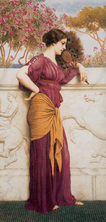 картина Павлиний веер :: Джон Уильям Годвард - Древний Рим и Греция, Египет фото
