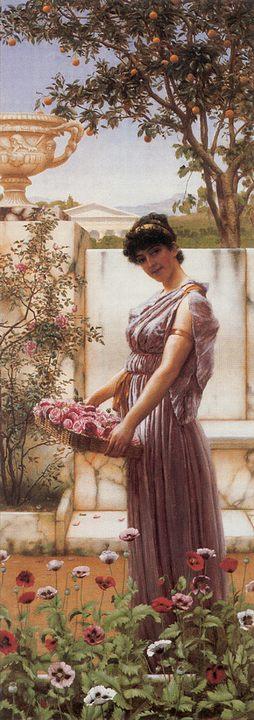 картина Цветы Венеры :: Джон Уильям Годвард - Древний Рим и Греция, Египет фото