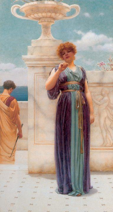 картина Обручальное кольцо :: Джон Уильям Годвард - Романтические сюжеты в живописи фото