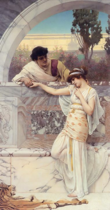 картина Да или нет :: Джон Уильям Годвард - Романтические сюжеты в живописи фото