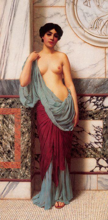 картина В термах :: Джон Уильям Годвард - Картины ню, эротика в шедеврах живописи фото
