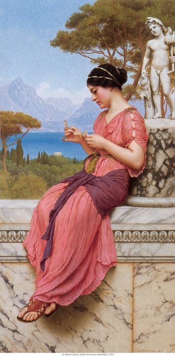 Любовное письмо (Le Billet Doux) :: Джон Уильям Годвард - Романтические сюжеты в живописи фото