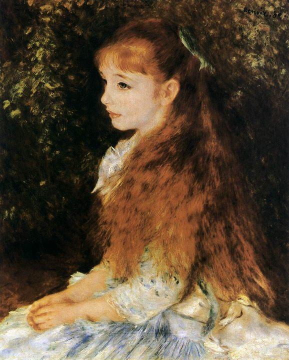 Портрет мадемуазель Ирен Каэн :: Ренуар Пьер Огюст - Pierre-Auguste Renoir фото