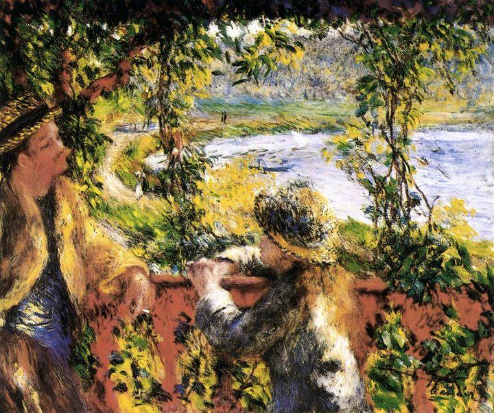 картина Около озера :: Ренуар Пьер Огюст - Pierre-Auguste Renoir фото
