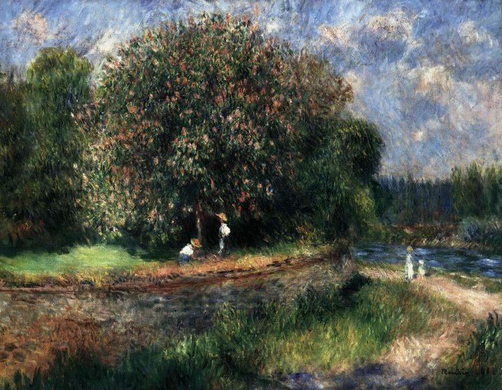 картина Цветущее каштановое дерево :: Ренуар Пьер Огюст - Pierre-Auguste Renoir фото