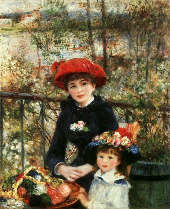 картина Две сестры (На террасе) :: Ренуар Пьер Огюст - Pierre-Auguste Renoir фото