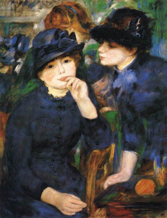 картина Две девочки (портрет) ::  Ренуар Пьер Огюст - Pierre-Auguste Renoir фото