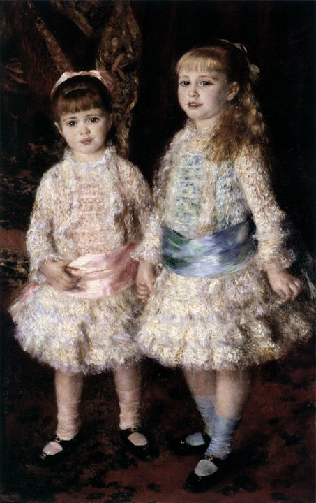 «Розовое и голубое» («Дочери Каэн Д'Анвера») :: Ренуар Пьер Огюст - Pierre-Auguste Renoir фото
