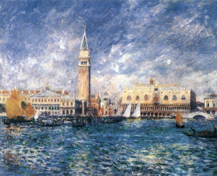 картина «Дворец Дожей в Венеции» :: Ренуар Пьер Огюст - Pierre-Auguste Renoir фото