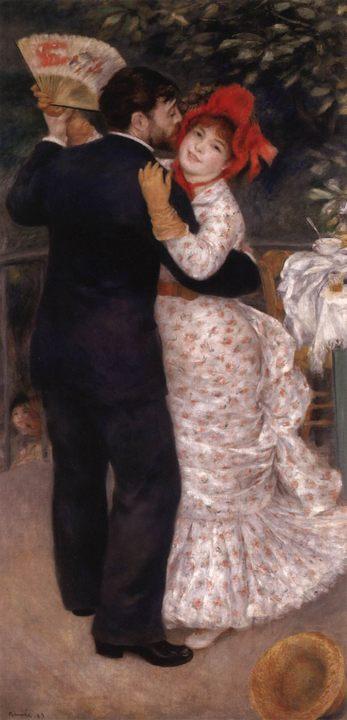 картина Танец в деревне :: Ренуар Пьер Огюст - Pierre-Auguste Renoir фото