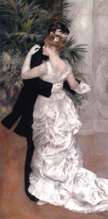 картина Танец в городе :: Ренуар Пьер Огюст - Pierre-Auguste Renoir фото