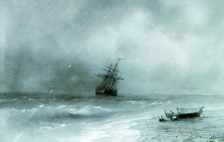 картина Бурное море :: Айвазовский И.К. - Aivazovsky, Ivan Constantinovich фото