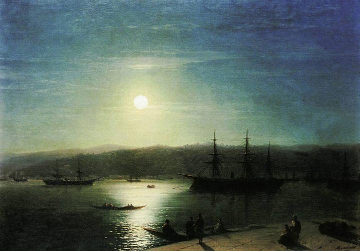 картина Босфор в лунную ночь :: Айвазовский И. К. - Aivazovsky, Ivan Constantinovich фото