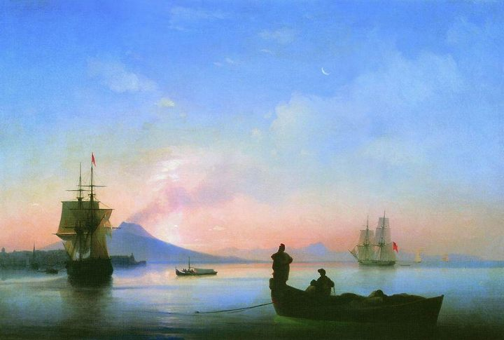 картина Неаполитанский залив утром :: Айвазовский И. К. - Aivazovsky, Ivan Constantinovich фото