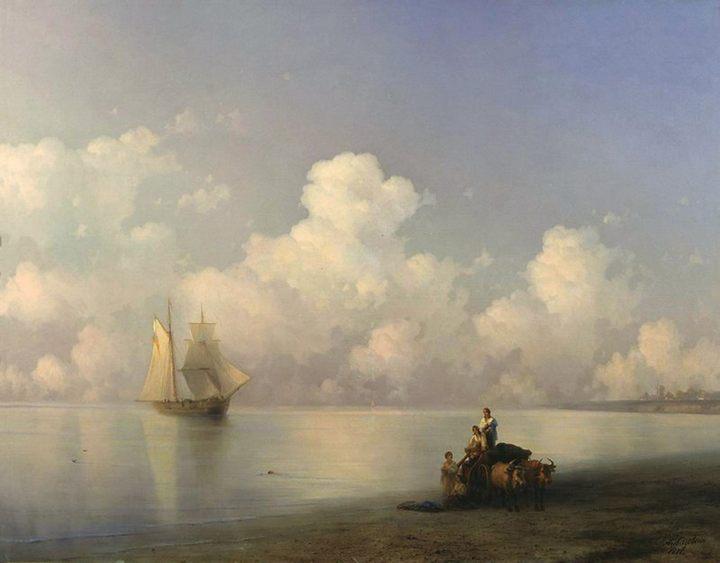 картина Вечер на море (морской пейзаж) :: Айвазовский И. К. - Aivazovsky, Ivan Constantinovich фото