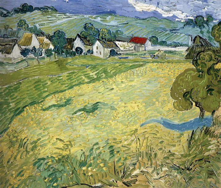 сельский пейзаж Вид на Вессенот близ Овер :: Винсент Ван Гог, описание картины - Van Gogh фото