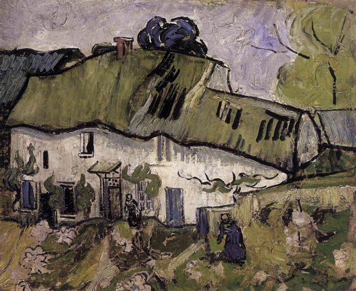 Фермерский дом с двумя фигурами :: Винсент Ван Гог, описание картины   - Van Gogh фото