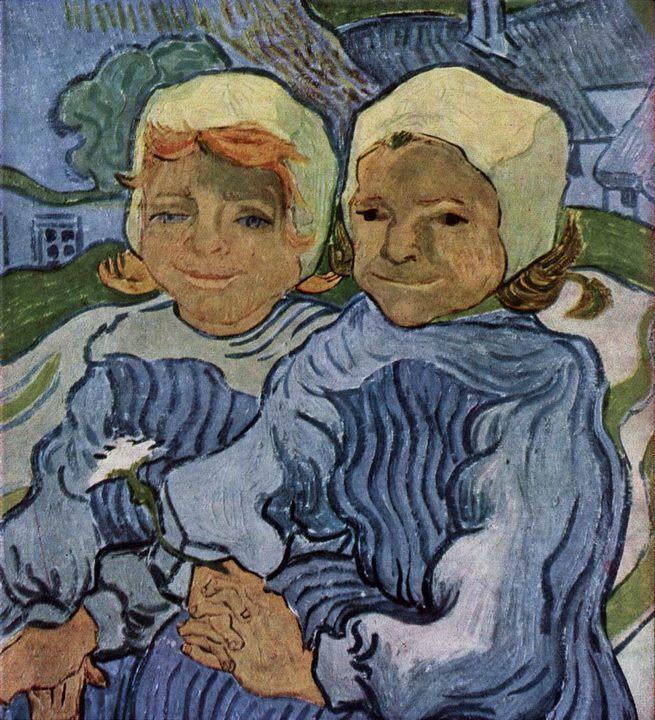 детский портрет Двое детей :: Винсент Ван Гог, описание картины - Van Gogh фото