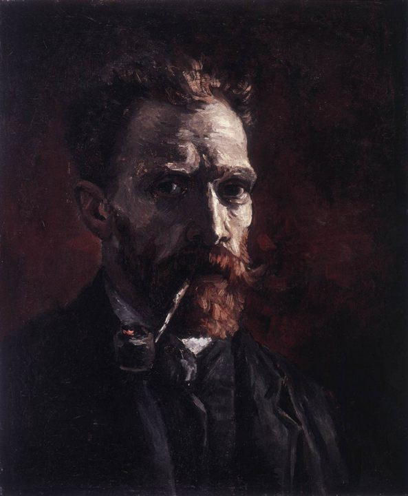Автопортрет с трубкой :: Винсент Ван Гог - Van Gogh фото