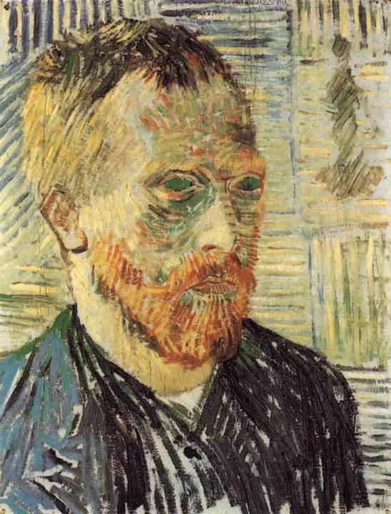 Автопортрет с японским принтом :: Винсент Ван Гог - Van Gogh фото