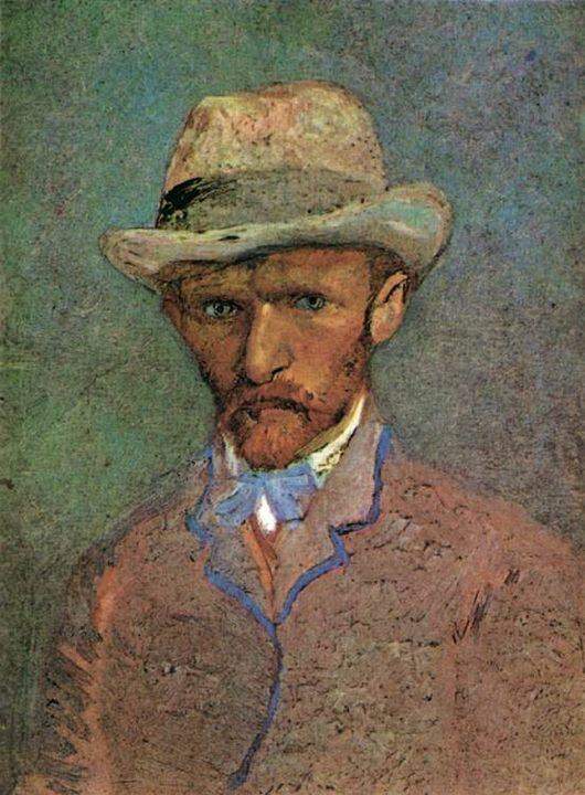 Автопортрет с серой фетровой шляпе :: Винсент Ван Гог - Van Gogh фото
