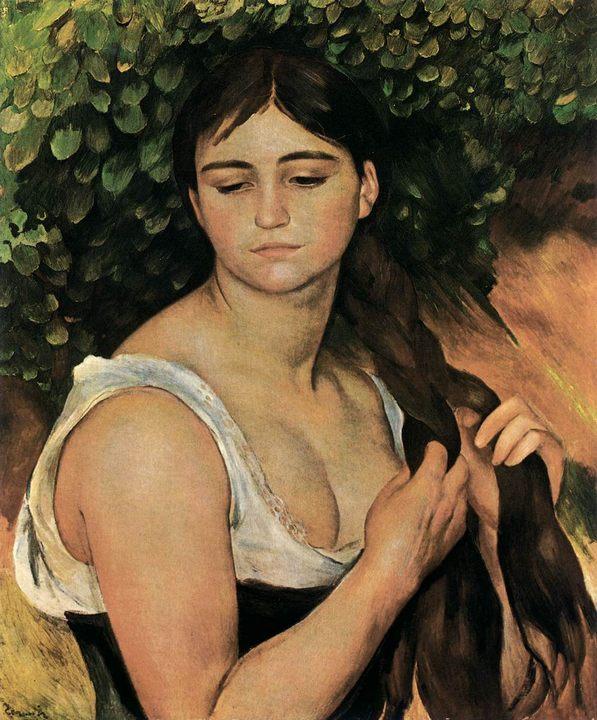 Коса (Сюзанна Валадон) :: Ренуар Пьер Огюст, описание картины - Pierre-Auguste Renoir фото