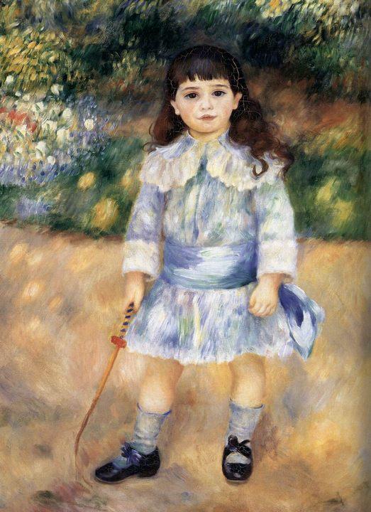 Ребенок с кнутиком :: Ренуар Пьер Огюст, описание картины - Pierre-Auguste Renoir фото